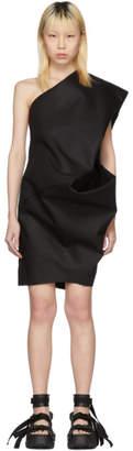 Rick Owens Black Bouquet Tunic Dress