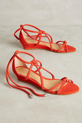 Schutz Margarete Knotted Micro Wedges $178 thestylecure.com