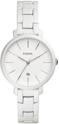 Fossil Women's Jacqueline White Stainless Steel Bracelet Watch 36mm