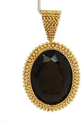 Carla Amorim 18k Yellow Gold Oval Shape Smokey Topaz Bead Design Pendant