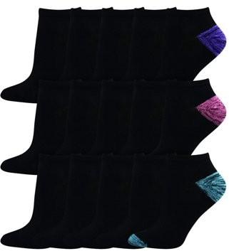 Hanes Women's Lightweight Low Cut Socks, Super Value 15 Pack