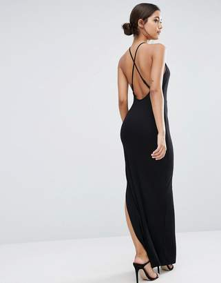 ASOS Halter Strappy Back Maxi Dress $34 thestylecure.com