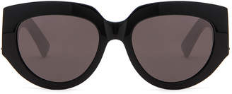 Saint Laurent Rope Monogram Sunglasses in Black | FWRD