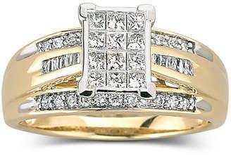 JCPenney MODERN BRIDE 1/2 CT. T.W. Diamond Bridal Ring 10K Gold