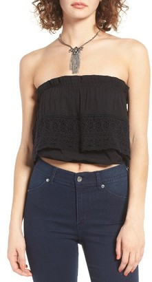 Women's Sun & Shadow Lace Popover Tube Top $45 thestylecure.com