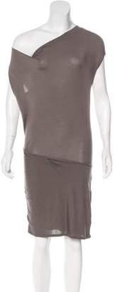 Helmut Lang Silk-Blend Knit Dress