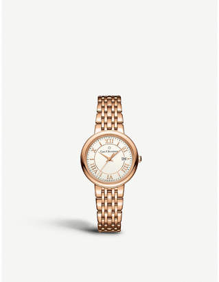 Rosegold CARL F BUCHERER 00.10312.03.15.21 Adamavi rose-gold sapphire crystal bracelet watch