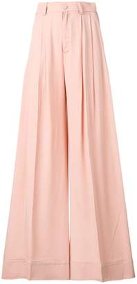 Semi-Couture Semicouture pleated palazzo pants