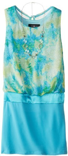 Amy Byer Big Girls' Glitter Blouson Dress