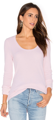 Splendid Nordic Thermal Long Sleeve Scoop Tee $88 thestylecure.com