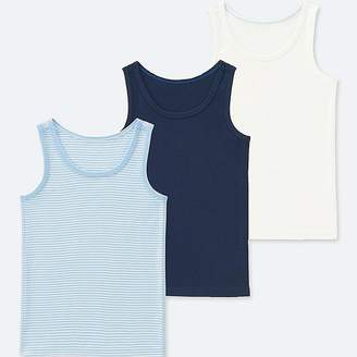 Uniqlo Toddler Cotton Inner Tank Top (set Of 3)