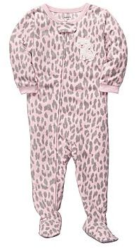 Carter's Kitty Cat Microfleece Footed Pajamas - Girls 12m-24m