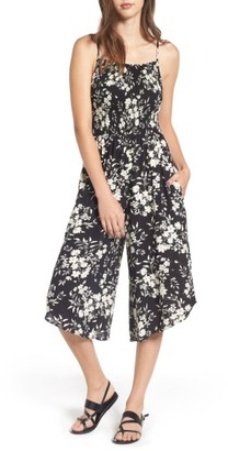 Women's Mimi Chica Smocked Floral Jumpsuit $45 thestylecure.com