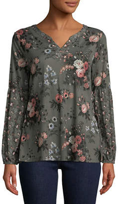 Style&Co. STYLE & CO. Long-Sleeve Floral Top