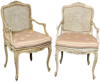 One Kings Lane Vintage French Louis XV-Style Caned Chairs - Set of 2