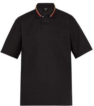 3dfa0e93 Fendi Striped Cotton Poplin Polo Shirt - Mens - Black Multi
