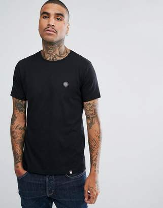 Pretty Green Mitchell Chest Logo T-Shirt in Black
