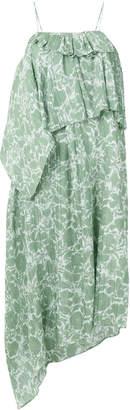 Christian Wijnants Dinah floral-print ruffled asymmetric midi dress