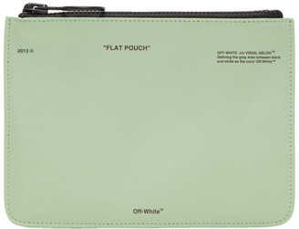 Off-White Green 'Pochette' Pouch $375 thestylecure.com