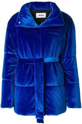MSGM puffer textured jacket