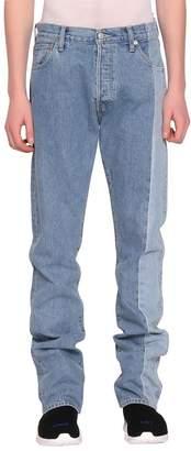 Vetements Side Panel Cotton Denim Jeans