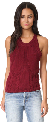 One Teaspoon Frontier Cable Knit Sweater Tank $119 thestylecure.com