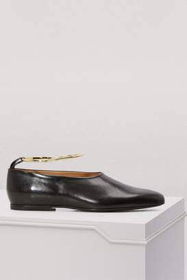 Jil Sander Ring leather loafers