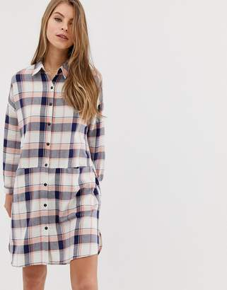 Qed London QED London check collared shirt dress