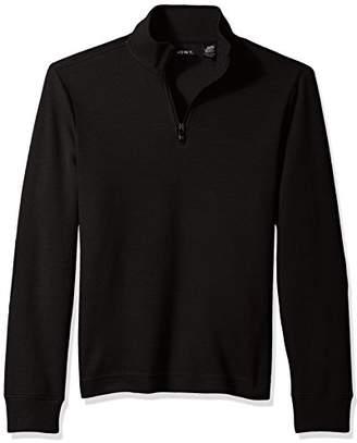 AXIST Men's Quarter Zip Flat Back Rib Sweater