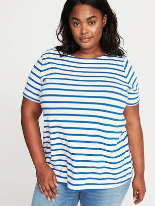 e74640e9daa at Old Navy · Old Navy Plus-Size Mariner-Stripe Thick-Knit Tee
