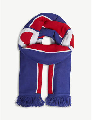 Champion Logo stripe knitted scarf