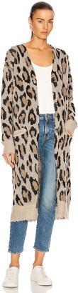 R 13 Long Leopard Cardigan