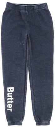 Butter Shoes Burnout Fleece Varsity Logo Sweatpants, Size 4-6