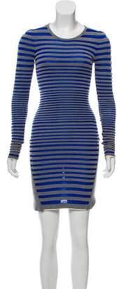 Alexander Wang Striped Mini Dress blue Striped Mini Dress