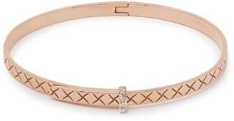 Bottega Veneta Intrecciato 18kt rose-gold & diamond bracelet