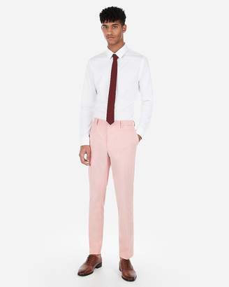 Express Extra Slim Coral Stripe Stretch Suit Pant