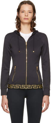 Versace Underwear Black Medusa Zip-Up Hoodie