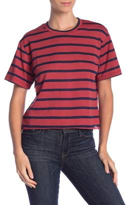 Pretty Rebel Cropped Stripe Tee