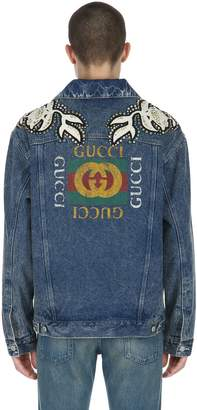 Gucci Oversized Embellished Denim Jacket
