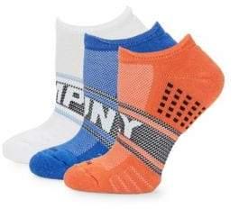 Hue Three-Pack Air Cushion No-Show Socks