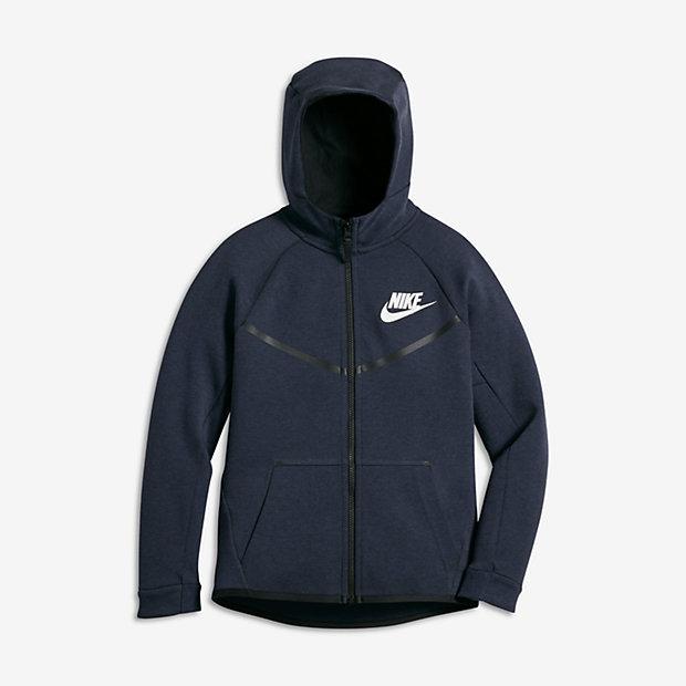 Nike Sportswear Tech Fleece Windrunner Big Kids' (Boys') Hoodie