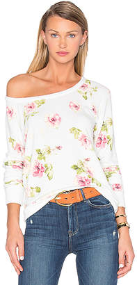 Chaser English Rose Sweater in Ivory $79 thestylecure.com