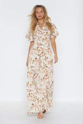 Nasty Gal Grow On Then Floral Maxi Dress
