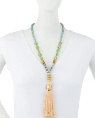 Nakamol Beaded Necklace w/ Tassel Pendant