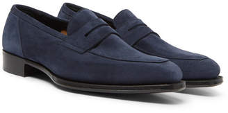 Kingsman + George Cleverley Newport Suede Penny Loafers