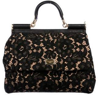 Dolce & Gabbana Guipure Lace Large Miss Sicily Bag