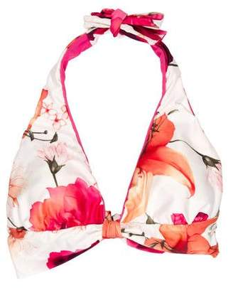 St. John Floral Bikini Top