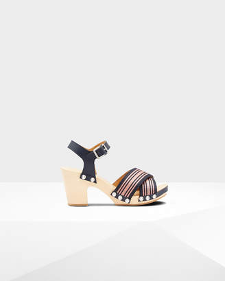 Hunter Women's Refined Webbing Cross Clog Sandals