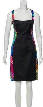 Just Cavalli Floral Knee-Length Dress w/ Tags