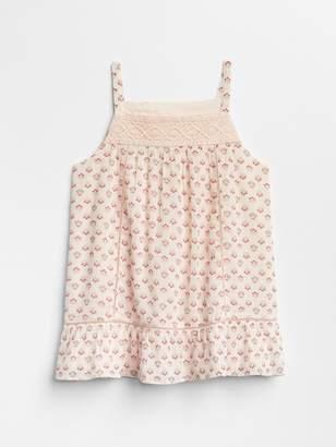 Gap Crochet Floral Tank Top